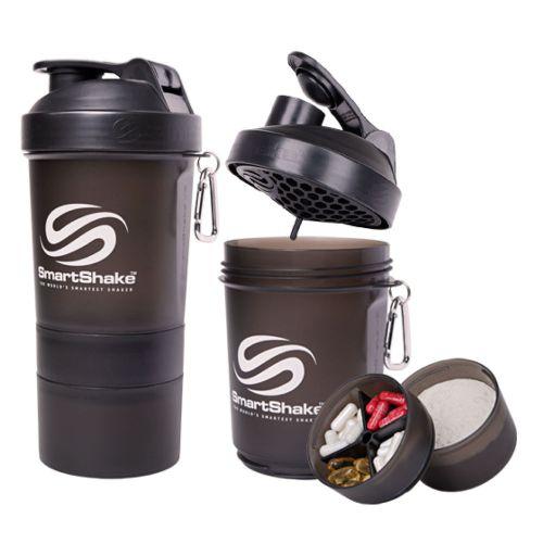 INSANE $4 DEAL - Smartshake Bottle With 2 Twist On Compartments! Bring your powders, supplements, small snacks with you on the go! These are $15 each in stores - $1 shipping, but order 4 or more and shipping is free!