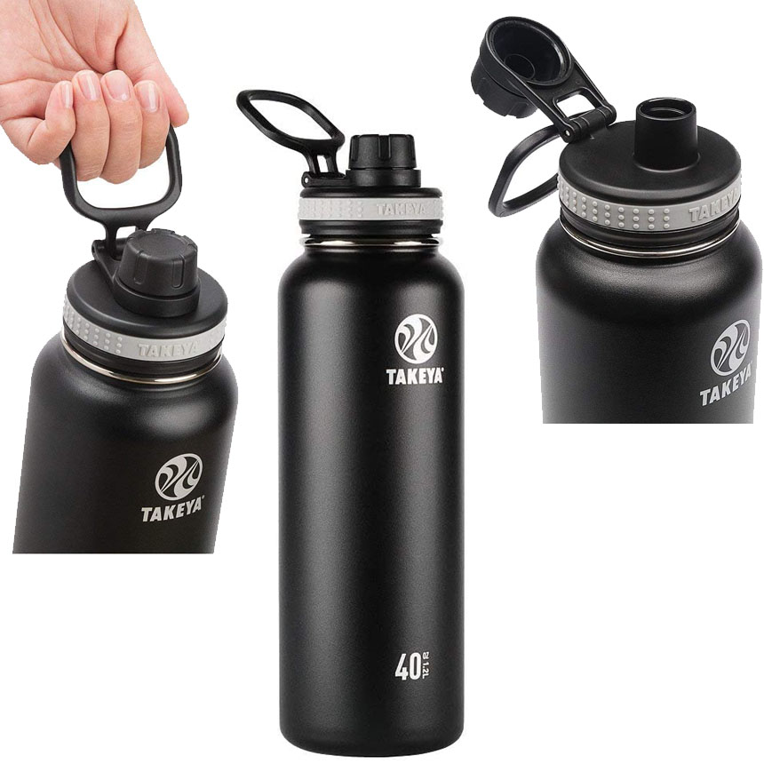 Takeya 40-oz. Vacuum-Insulated Stainless Steel Water Bottle